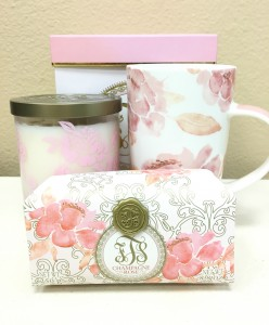 Champagne Rose Gift Set in Riverside, CA | Willow Branch Florist of Riverside