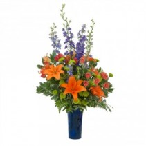 Chase away the Blues Fresh Flower Arrangement