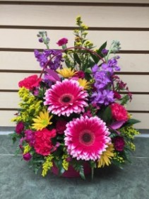 Cheerful Smiles Basket Arrangement