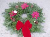 Christmas Pine Wreath in Farmingdale, NY | MERCER FLORIST & GREENHOUSE INC.