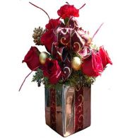 Christmas Present Arrangement in Miami, FL | THE VILLAGE FLORIST