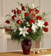 For the Love of Roses & Lillies Vase Arrangement