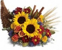 Classic Cornucopia Flower Arrangement