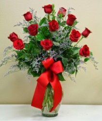 DOZEN RED ROSES Arrangement of Flowers