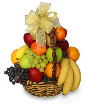 Classic Fruit Basket Gift Basket in Asheville, NC | THE ENCHANTED FLORIST ASHEVILLE