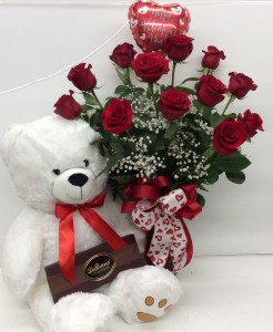 Classic Valentine Premium Rose Arrangement in Troy, MI | DELLA'S MAPLE LANE FLORIST