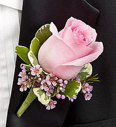 Classy Pink Rose Boutonniere  in Fair Lawn, NJ | DIETCH'S FLORIST