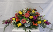 Color Burst Centerpiece S-CF2 Fresh Arrangement