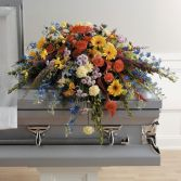 COLORFUL MEMORIES CASKET SPRAY in Edison, NJ | E&E FLOWERS AND GIFTS