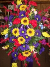 Colorful Silk Standing Spray Standing Spray for funeral