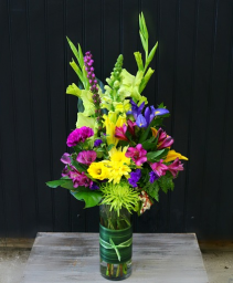 Column of Color Vase Arrangement