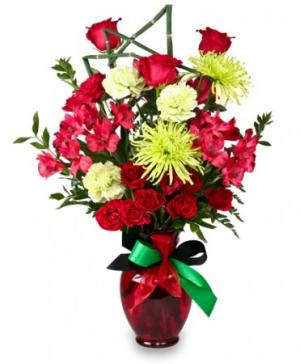 Contemporary Cheer Kwanzaa Flowers in Old Town, ME | WISTERIA FLORAL & GIFTS