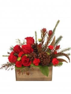 Country Christmas Box Arrangement in State College, PA | George's Floral Boutique