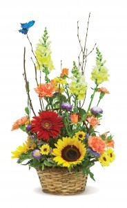Country Fresh Basket Mix Flowers