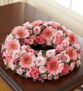 Creamation Wreath Fresh Flowers done in your choice of colors in Bowerston, OH | LADY OF THE LAKE FLORAL & GIFTS