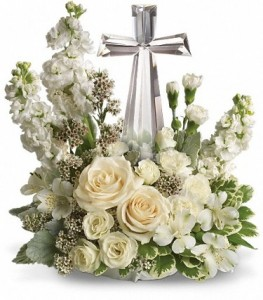 Crystal Cross Bouquet  in Dayton, OH | ED SMITH FLOWERS & GIFTS INC.