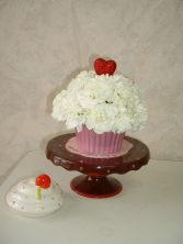 CUPCAKE Cupcake Trinket Box w/ Carnations in East Hampton, CT | ESPECIALLY FOR YOU