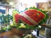 Custom Fish Arrangement Funeral