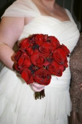 Dark Red Roses Hand Tied Bouquet