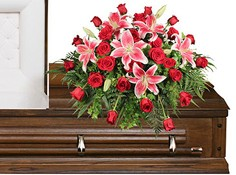 DEDICATION OF LOVE Funeral Flowers in Bath, NY | VAN SCOTER FLORISTS 