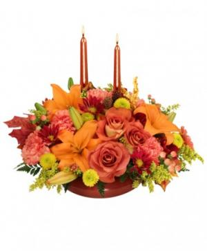 DELIGHTFALL Centerpiece in Caldwell, ID | BAYBERRIES FLOWERS & GIFT
