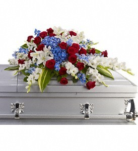 Distinguished Service Casket Spray in Eau Claire, WI | 4 SEASONS FLORIST INC.