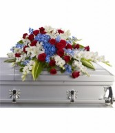 Distinguished Service Casket Spray Casket Flowers