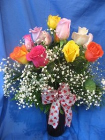 Dozen Mixed Roses Special Valentine's Day