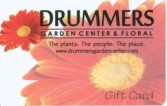 DRUMMERS GIFT CARD Request this special gift in any amount. in Mankato, MN | DRUMMERS GARDEN CENTER & FLORAL