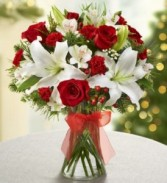 European Holiday Bouq Vase Arrangement