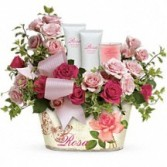 Everthing Rosy Floral Gift Basket