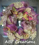 Fall Mesh Wreath in Birmingham, AL | ANN'S BALLOONS & FLOWERS