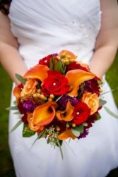 Fall Stem Wrap Wedding