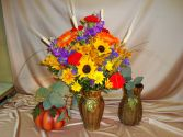 Fall Vase Arrangement Margot's Local Delivery Only in Prospect, CT | MARGOT'S FLOWERS & GIFTS