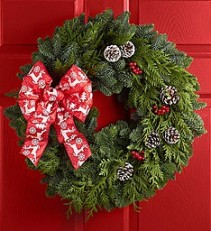 Festive Holiday Wreath Wreath