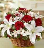 Fields of Europe Christmas Basket Holiday Flower