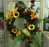 Fisherman Funeral Spray in Jonesboro, AR | HEATHER'S WAY FLOWERS & PLANTS