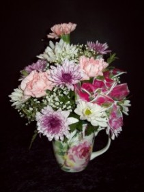 Floral Mug Bouquet Fresh Flower Arrangement
