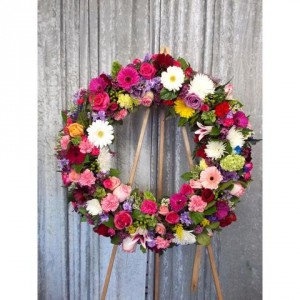 floral wreath funeral flowers