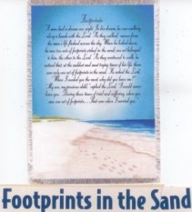 Footprints in the Sand Tapestry