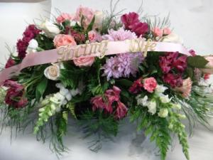for the love of my garden casket spray in Newmarket, ON | THE ROSE PROS