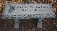 Forever Bench Cement Stone Bench