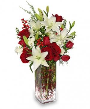 ALL IS MERRY & BRIGHT Deluxe Christmas Arrangement in Moore, OK | A New Beginning Florist