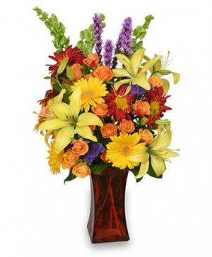 Canyon Sunset Arrangement in Hitchcock, TX | Margie's Flowers