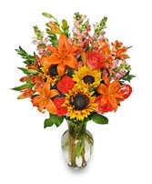 FALL FLOWER GALA Arrangement in Caldwell, ID | BAYBERRIES FLORAL