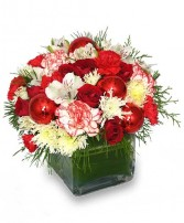 FROM THE HEART Holiday Bouquet in Milton, MA | MILTON FLOWER SHOP, INC