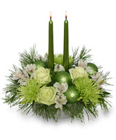 GLOWING GREEN Arrangement in Worthington, OH | UP-TOWNE FLOWERS & GIFT SHOPPE