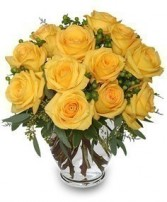 GOOD MORNING SUNSHINE Roses Arrangement in Burlington, CT | THE HARWINTON FLORIST