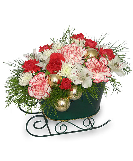 HOLIDAY SLEIGH Bouquet Christmas Flower Shop Network