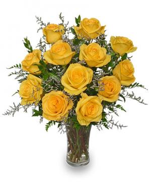 Lemon Drop Roses Bouquet in Bryson City, NC | VILLAGE FLORIST & GIFTS